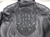 HARLEY DAVIDSON LADIES BLACK LEATHER EMBROIDERED JACKET, MEDIUM, LINED